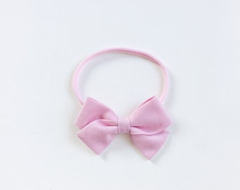 """Baby headband with bow * large hair bow """"Emma"""" baby pink"""