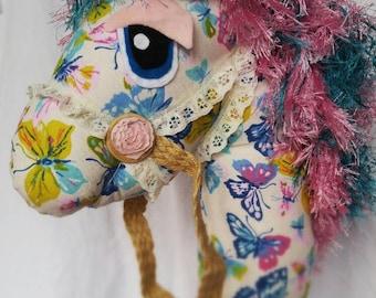 Butterfly Pony Hobby Horse / Stick Horse