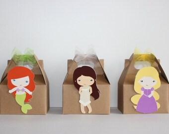 Princess Party favor boxes