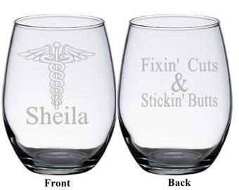 Nurses Wine Glass, Nurse's Week, Gift for Nurse, Medical Gift, Nurses Week, Doctor Gift, Nurse Wine Glass, Gift for Doctor, Nursing Student