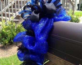 Blue lives Matter Wreath, Mailbox Garland, police decor, deco mesh garland, swags