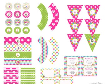Luau Party Printables | Luau Party Decorations | Luau Birthday Party | Instant Download