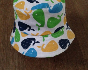 Funky Reversible Boys Sunhat in Size 12-24months