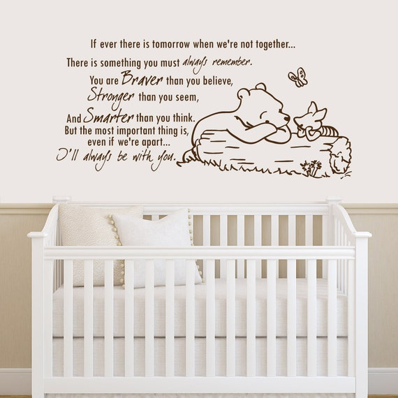 winnie the pooh quote wall decal vinyl sticker decals quotes winnie the pooh wall decal quote adventure quote with pooh