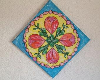 MANDALA PAINTING TULIP   Painting Mandala Tulip