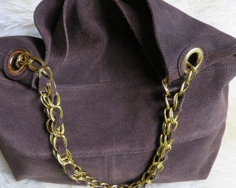 Paradox Leather/Suede Purse - Hobo Shoulder Bag