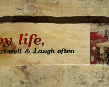 Rustic Handmade Sign From Reused Pallets, Vintage Sign, Wall Decor, Shabby Chic, Pallet sign, Farmhouse Style
