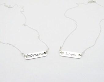 Dainty silver necklace - Sterling silver kids necklace