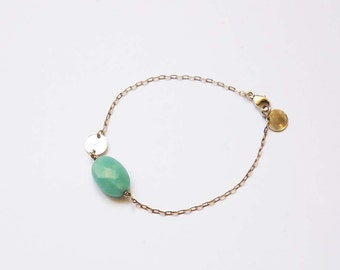 bracelet ,amazonite ,925 stealing silver