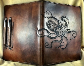 Hand-Made Custom Leather Composition Book Cover