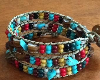 3 Wrap Boho Bracelet