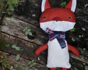 Fox Soft Toy; Foxie Plushie; Stuffed Fox Cub; Cute Animal Softie