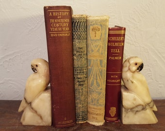 Adorable Vintage Stone Bird Bookends