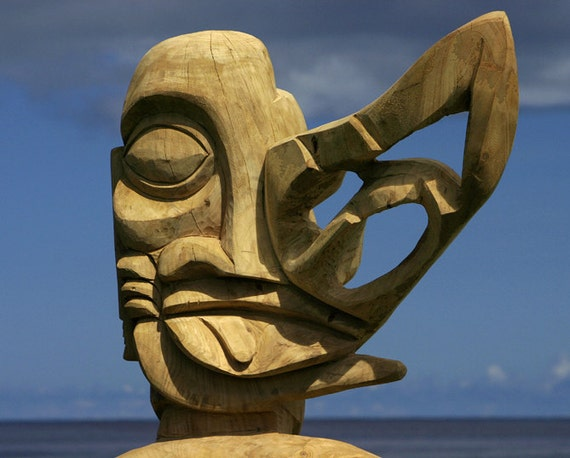 Easter island carving digital photography by welshdragonphotos