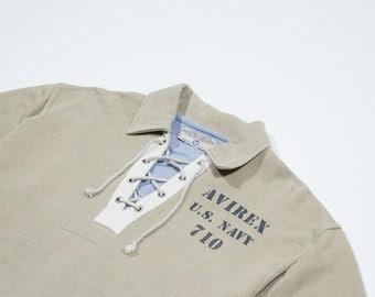 AVIREX - Army green cotton sweatshirt
