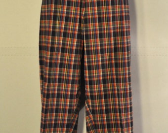 Womens Vintage Plaid Pants