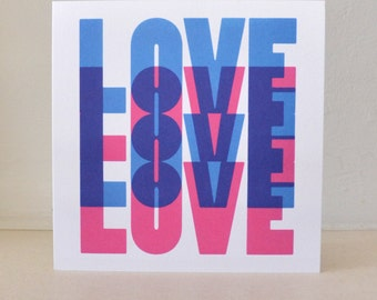 Blue Love, Greeting Card