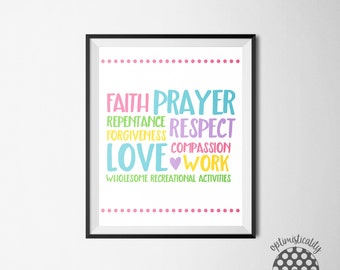 """LDS Family Proclamation -- """"Successful Families"""" subway art -- 8x10 download"""