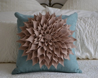 3D Felt Flower Cushion