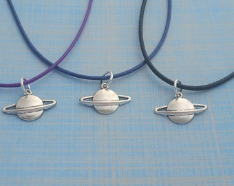 Planet Necklace, Space Party Favors, Kids Necklace, Planet Jewelry, Cord Necklace, Space Charm, Kids Party Favours, Little Astronaut, Gifts