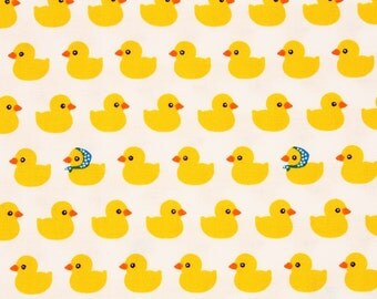 Yellow Rubber Duck Fabric made in Korea by Half Yard