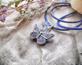 Gorgeous butterfly - Fine silver pendant