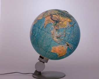 World Globe Vintage Old World Globe Light Up Globe Old Map Scan-globe Denmark globe with degrees setting