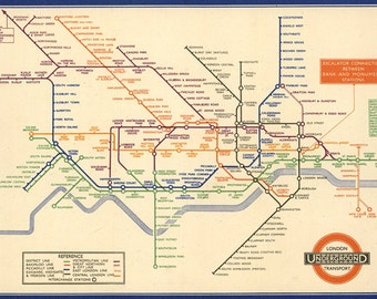 Vintage London Tube Map digital download -Vintage Poster Print - Instant Digital Download.London city underground PRINTABLE map.London print