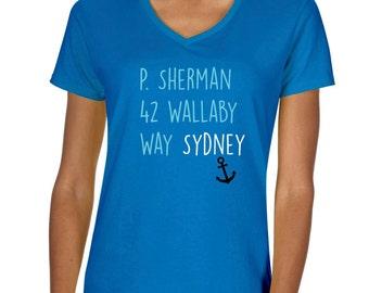"Finding Nemo ""P. Sherman 42 Wallaby Way Sydney"" Vneck Tshirt"