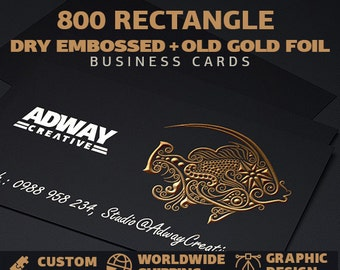 800 pcs gold foil embossed business cards - old looking, LUX