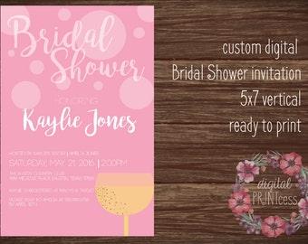 Personalized Bridal Shower Invitation-5x7-champagne