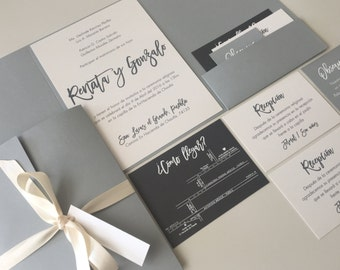 INVITATIONS GREY/PEARL