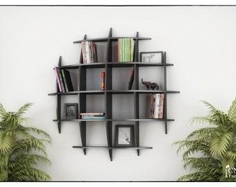 EYE BOOKCASE - Cnc plans template cutting file - Sliced 3d Model Floating Shelves, Hanging Bookshelf, Bookshelves, Wall Shelf,  Living Room