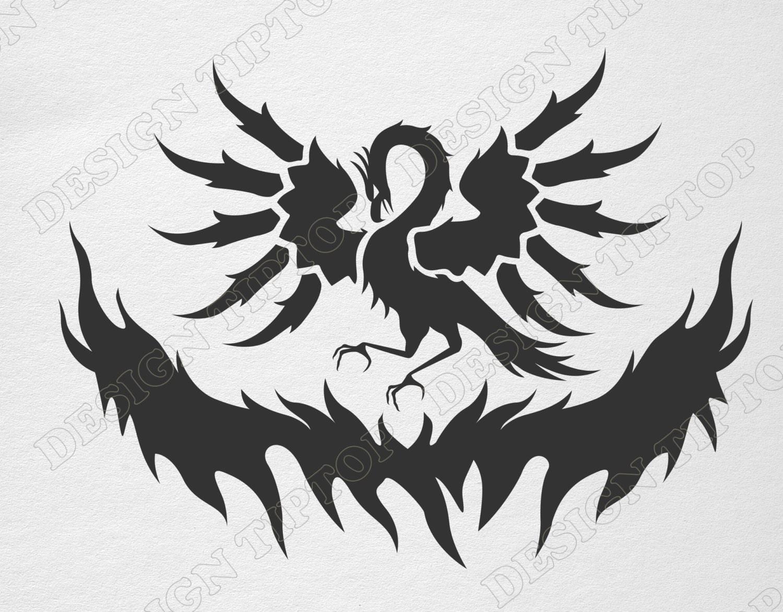 Phoenix Svg Firebird Dxf Png Eps Silhouette Cricut