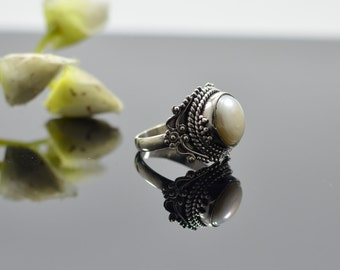 Vintage schmuck  Antique pearl ring | Etsy