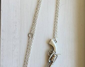 Revolver Gun Necklace