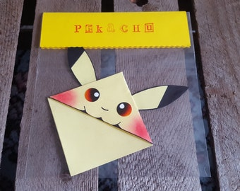 Pikachu Inspired Corner Bookmark
