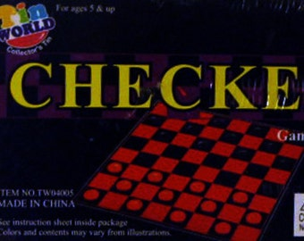 "CHECKERS TIN ""Game in a Tin"" (unopened)"