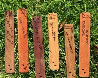 Custom Garden Plant Labels. Engraved with your Personal Garden Naming.