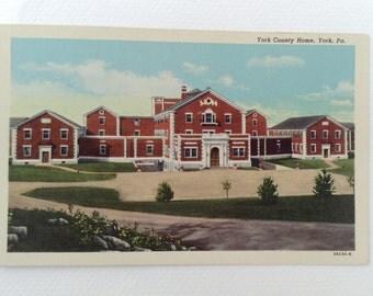Vintage York, PA Postcard: York County Home