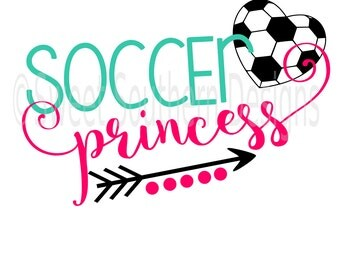 Soccer princess SVG instant download design for circuit or silhouette