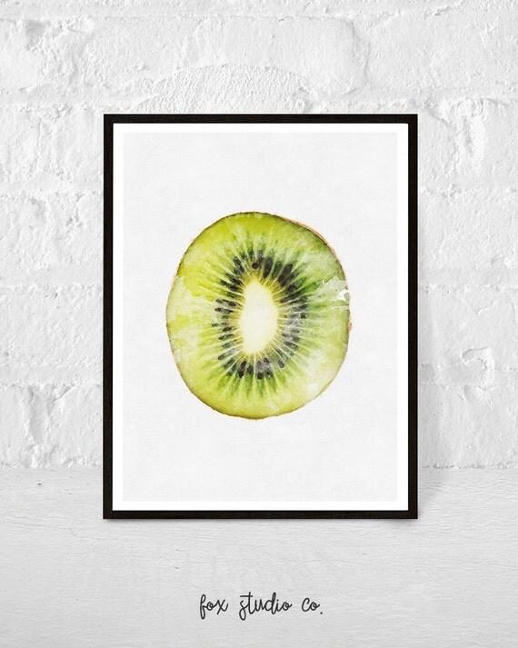 Kiwi print kiwi printable tropical decor fruit print by for Decoration kiwi