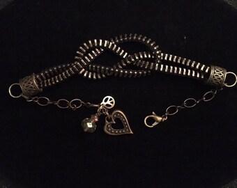 Zipper Bracelet Jewelry Set Infinity
