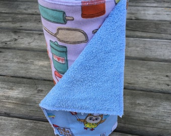 Owl reusable paper towel, un paper towel, kitchen towels, reusable, wipes, reusable un-paper towel, paper towel, reusable wipes