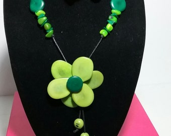 Organic tagua necklace Kerley