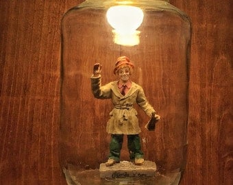 Harpo Marx made by hand from recycled lamp