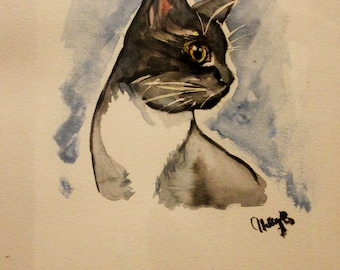 Custom Pet Watercolor Painting **Free U.S. Shipping**