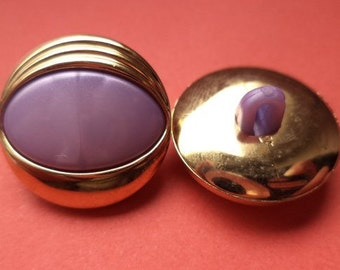 9 buttons gold of purple 16mm 18mm (4944 4945) button