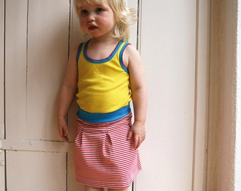 Antje - girls jerseyskirt with box pleats