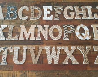 Wooden Block Letter ABC.. Chose a palette